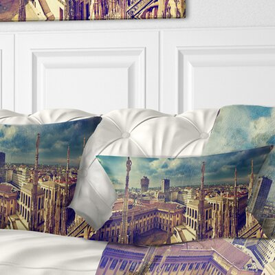 View on Royal Palace Palazzo Realle Cityscape Pillow Size: 12 x 20, Product Type: Lumbar Pillow