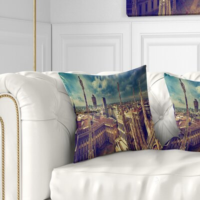 View on Royal Palace Palazzo Realle Cityscape Pillow Size: 18 x 18, Product Type: Throw Pillow