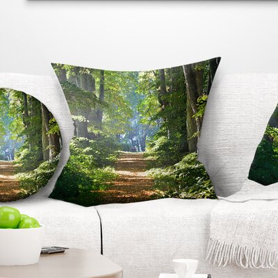Bright Forest Pillow Size: 18 x 18, Product Type: Throw Pillow