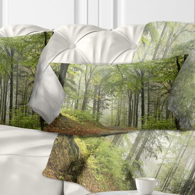 Beach Forest Pathway Landscape Photo Pillow Size: 12 x 20, Product Type: Lumbar Pillow