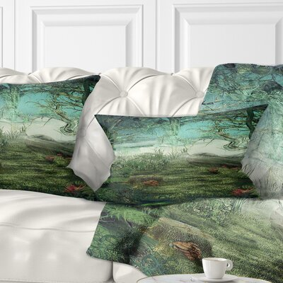 Forest Glade Landscape Printed Pillow Size: 12 x 20, Product Type: Lumbar Pillow