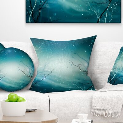 Winter Fantasy Forest Landscape Photo Pillow Size: 26 x 26, Product Type: Euro Pillow