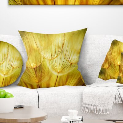 Soft Dandelion Flowers Floral Pillow Size: 18 x 18, Product Type: Throw Pillow