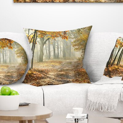 Bright Fall Morning Landscape Photo Pillow Size: 18 x 18, Product Type: Throw Pillow