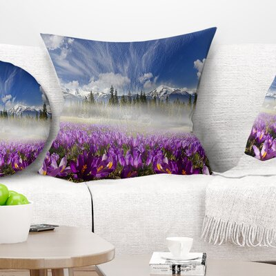 Spring Flowers Crocuses Floral Photography Pillow Size: 16 x 16, Product Type: Throw Pillow