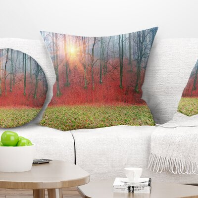 Spring Flowers with Snowdrops Landscape Photography Pillow Size: 18 x 18, Product Type: Throw Pillow