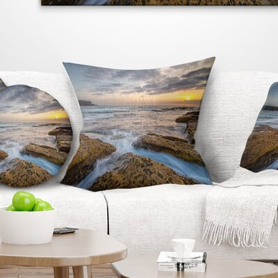 Bright Sydney Coastline View Seascape Pillow Size: 16 x 16, Product Type: Throw Pillow