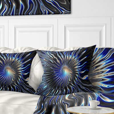 Rays from the Circle Contemporary Pillow Size: 18 x 18, Product Type: Throw Pillow