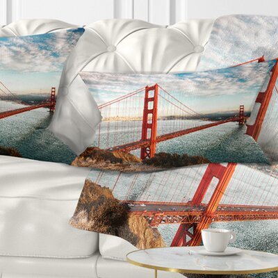 Gate Bridge in San Francisco Sea Bridge Pillow Size: 12 x 20, Product Type: Lumbar Pillow