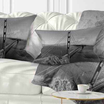 Gate Bridge in Panorama Sea Bridge Pillow Size: 12 x 20, Product Type: Lumbar Pillow