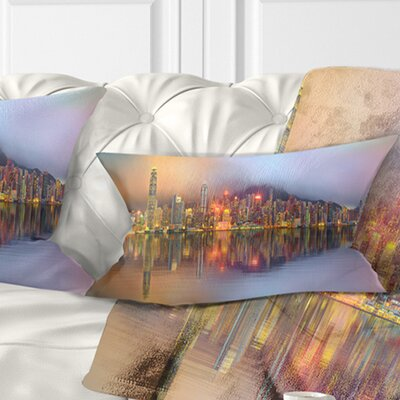 Singapore Financial District Island Cityscape Pillow Size: 12 x 20, Product Type: Lumbar Pillow