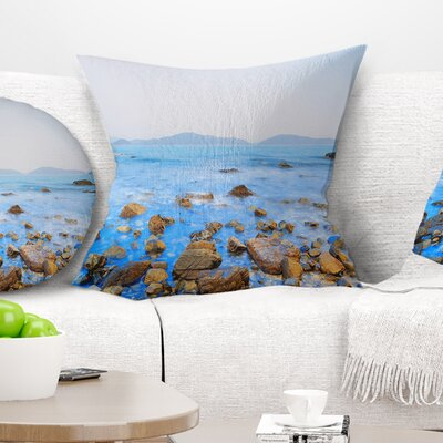 Stony Port Shelter Beach Hong Kong Seashore Pillow Size: 16 x 16, Product Type: Throw Pillow