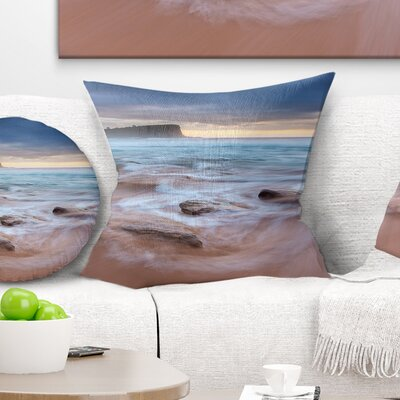 Bright Sydney Sea with Long Waves Seashore Pillow Size: 16 x 16, Product Type: Throw Pillow
