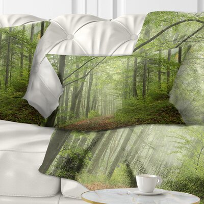 Early Fall Forest Landscape Photo Pillow Size: 12 x 20, Product Type: Lumbar Pillow