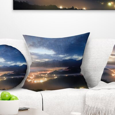 Cloudy Summer Sunrise Landscape Photo Pillow Size: 18 x 18, Product Type: Throw Pillow