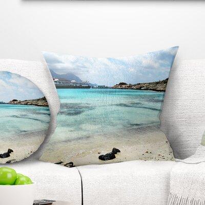 Crete Island in Greece Seascape Pillow Size: 26 x 26, Product Type: Euro Pillow
