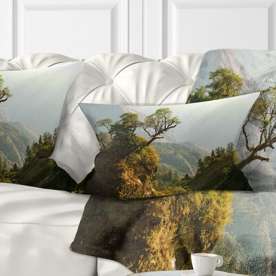 Enchanted Nepal Mountains Landscape Photography Pillow Size: 12 x 20, Product Type: Lumbar Pillow