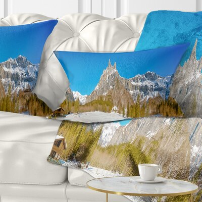 Sixt Fer a Cheval Panoramic View Landscape Printed Pillow Size: 12 x 20, Product Type: Lumbar Pillow