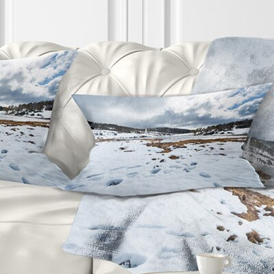 Snow Mountains in Kosciuszko Park Landscape Printed Pillow Size: 12 x 20, Product Type: Lumbar Pillow
