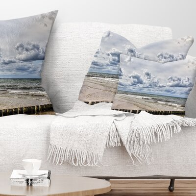 Stormy Weather in Hiddensee Sea Seascape Pillow Size: 12 x 20, Product Type: Lumbar pillow