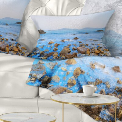 Stony Port Shelter Beach Hong Kong Seashore Pillow Size: 12 x 20, Product Type: Lumbar pillow
