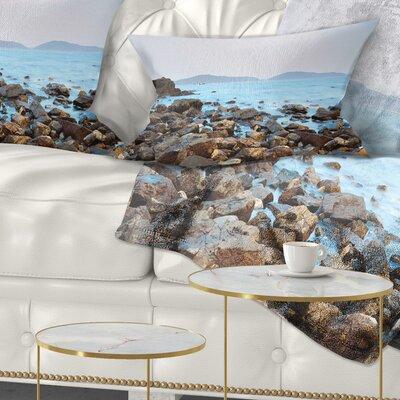 Stones on Shore of Port Shelter HK Seashore Pillow Size: 12 x 20, Product Type: Lumbar pillow
