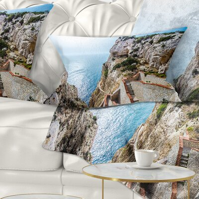 Stairway to Neptune S Grotto Seascape Pillow Size: 12 x 20, Product Type: Lumbar Pillow