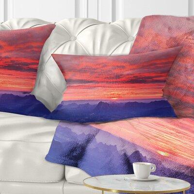 First Light Morning Sunrise Skyline Photography Pillow Size: 12 x 20, Product Type: Lumbar Pillow