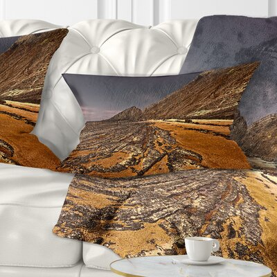 Rocky Coast Portugal Cityscape Pillow Size: 12 x 20, Product Type: Lumbar Pillow