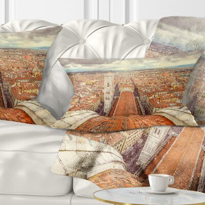 Florence View from Duomo Cathedral Cityscape Pillow Size: 12 x 20, Product Type: Lumbar Pillow