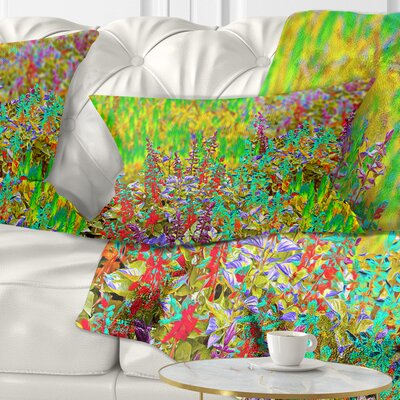 Textured Flowerbed Floral Pillow Size: 12 x 20, Product Type: Lumbar Pillow