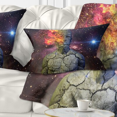 Broken Human Body with Fire Contemporary Pillow Size: 12 x 20, Product Type: Lumbar Pillow