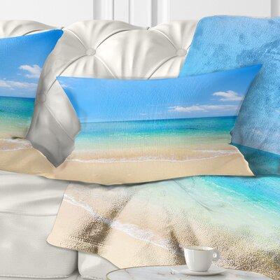 Waters Below Sky Seashore Photo Pillow Size: 12 x 20, Product Type: Lumbar pillow