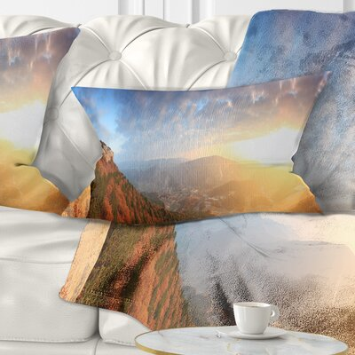 Cave City Eski Kermen Landscape Photography Pillow Size: 12 x 20, Product Type: Lumbar Pillow