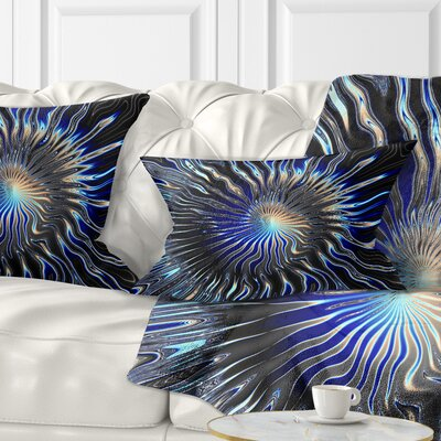 Rays from the Circle Contemporary Pillow Size: 12 x 20, Product Type: Lumbar pillow
