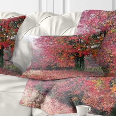 Calm Autumn Forest after Storm Landscape Photography Pillow Size: 12 x 20, Product Type: Lumbar Pillow