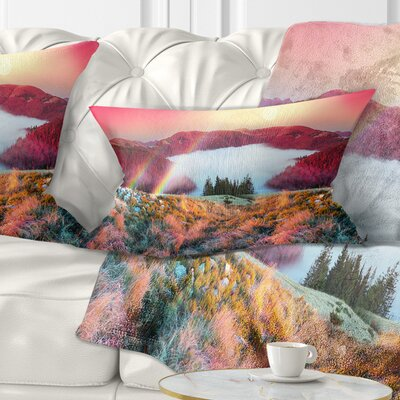 Beach Forest in Carpathians Landscape Photography Pillow Size: 12 x 20, Product Type: Lumbar Pillow