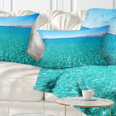 Benidorm Levante Beach Seascape Pillow Size: 12 x 20, Product Type: Lumbar Pillow