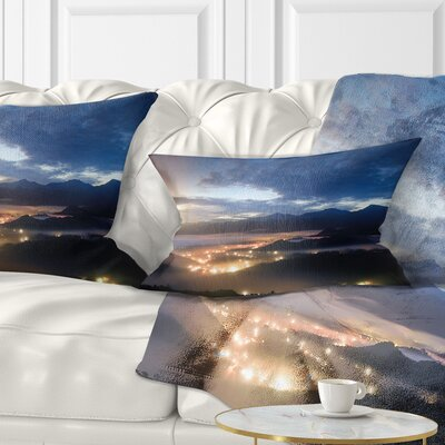 Cloudy Summer Sunrise Landscape Photo Pillow Size: 12 x 20, Product Type: Lumbar Pillow