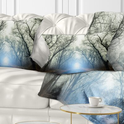 Light in Foggy Autumn Landscape Photo Pillow Size: 12 x 20, Product Type: Lumbar Pillow