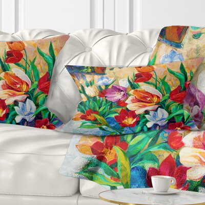 Bouquet of Flowers Floral Pillow Size: 12 x 20, Product Type: Lumbar Pillow