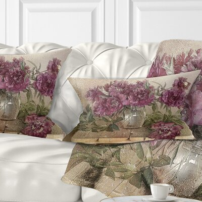 Bouquet of Pink Peonies Floral Pillow Size: 12 x 20, Product Type: Lumbar Pillow