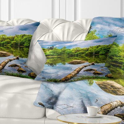 Boyana Lake Pillow Size: 12 x 20, Product Type: Lumbar Pillow