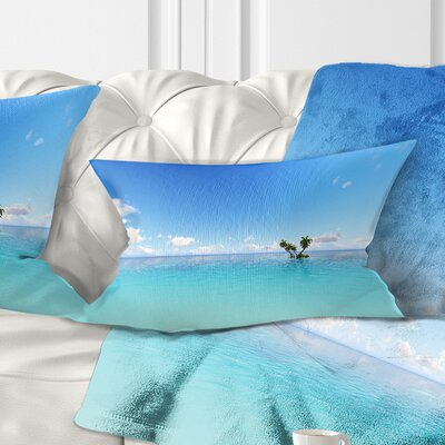 Corals Island Sea Seascape Pillow Size: 12 x 20, Product Type: Lumbar Pillow