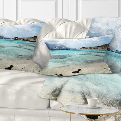 Crete Island in Greece Seascape Pillow Size: 12 x 20, Product Type: Lumbar Pillow