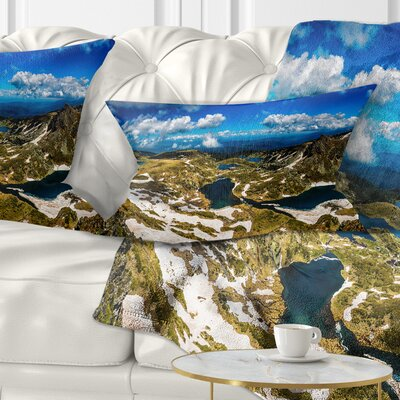 Bright Sky over Seven Rila Lakes Landscape Printed Pillow Size: 12 x 20, Product Type: Lumbar Pillow