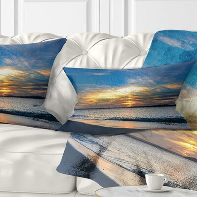 Bright Sydney Sky over Beach Seashore Pillow Size: 12 x 20, Product Type: Lumbar Pillow