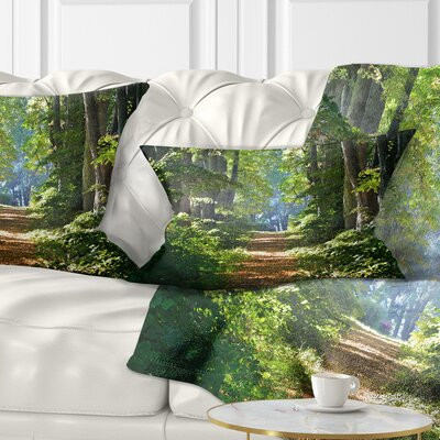 Bright Forest Pillow Size: 12 x 20, Product Type: Lumbar Pillow
