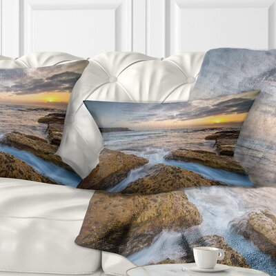 Bright Sydney Coastline View Seascape Pillow Size: 12 x 20, Product Type: Lumbar Pillow