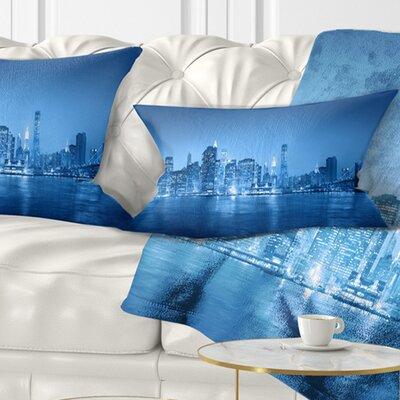 Panorama of New York City Cityscape Pillow Size: 12 x 20, Product Type: Lumbar Pillow